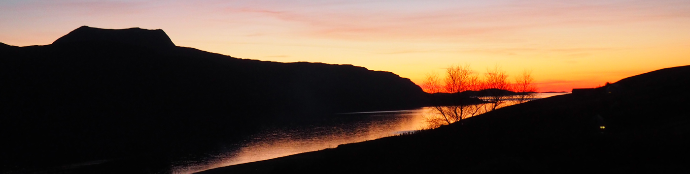 A gorgeous sunset over Loch Broom